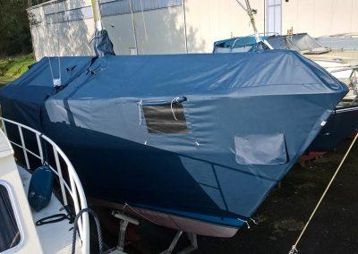 Wintertent boot met raam